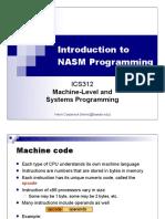 Ics312 Nasm First Program