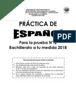 Práctica Examen Bachillerato Español