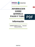 Informacion Pagos y Tablas Quiniela LOTERICOAS SAPIA 1