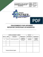 Pi -Sgi-008 Procedimiento Para Informar Reportar e Investigar Los Incidentes