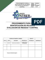 PI -SGI-002     PROCEDIMEINTO PARA LA IDENTIFICACION DE PELIGROS EVALUACION DE RIESGOS Y CONTROL.docx