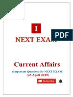 25 April 2019 Current Affairs By NEXT EXAM.pdf