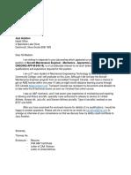 Cover Letter - IMP Group