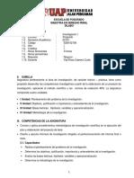 SILABUS DE INVESTIGACIÓN