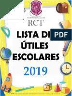 Lista de Utiles 2019 - 2020