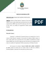 Proyecto de Resolución Suspenda Convocatoria