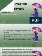 Interpretation of Precipitation Data Bestudio