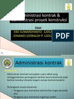 Kel 1 Admin Kontrak & Admin Proyek Konstruksi