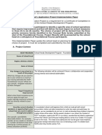 Shdp Foundation Course Application Project Plan Template