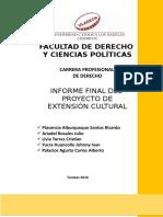 Informe Final Proyecto Extensión Cultural i