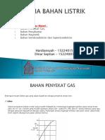 Tugas Makalah 3(Penyekat Gas, Penghantar, Magnet Dan Semikonduktor, Superkonduktor
