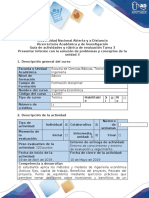 Guía de Actividades y Rúbrica de Evaluación - Tarea 3 - Presentar Informe Con La Solución de Problemas y Conceptos de La Unidad 3