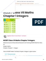 NCERT Class VII Maths Chapter 1 Integers _ AglaSem Schools