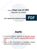 Anti-Rape Law of 1997 (RA 8353)