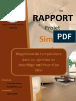 Système de régulation de température sur simulink