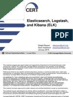Elasticsearch, Logstash, And Kibana - CERT