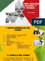 Ingeniería Realidad Nacional Presentación Syllabus Sem1