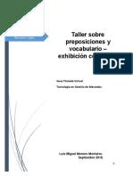 Taller Sobre Preposiciones y Vocabulario.