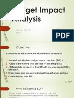 Budget Impact Analysis 3