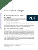 Basic Statistical Techniques