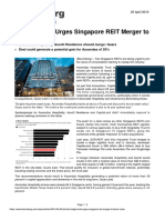 Bloomberg Activist Fund Urges Singapore REIT Merger to Boost Value 25 April 2019