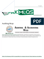 Auditing Mcqs for Senior Auditor, Junior Auditor - Accounts Fpsc,Psc,Nts(1)