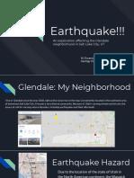 earthquake in glendale slc ut