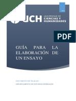 Guía de Ensayo Uch 2018-II