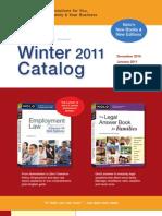 Nolo's Winter 2011 Catalog