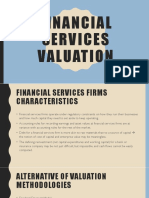 Financial Services Valuation