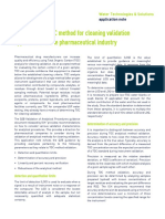 cleaning validation toc method