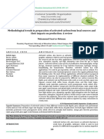 Methodological trends in preparation of activated carbon from local sources and their impacts on production