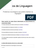 Distúrbios de Linguagem