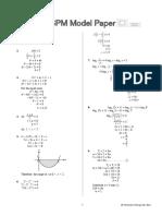 s Pm Model Paper
