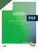 Programa Electoral Elecciones Generales 2019