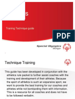 Athletics Technique Training