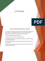5 Reserach Designs