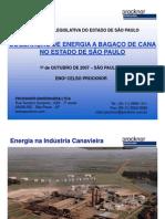 COGERAÇÃO DE ENERGIA A BAGAÇO DE CANA