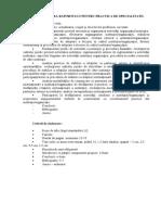 Structura Raportului Pentru Practica de Specialitate