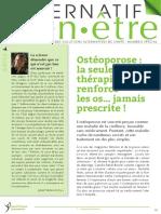 ALTERNATIF BIEN-ETRE OSTEOPOROSE
