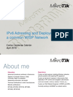 IPv6 Addressing and Deployment in a Common WISP Network
