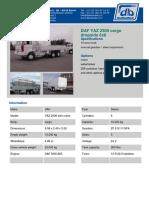 DAF YAZ 2300 Cargo Dropside 6x6