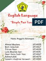 PPT Bahasa Inggris Simple Past Tense
