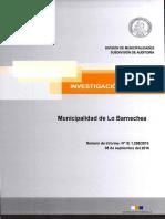 INVESTIGACIÓN ESPECIAL 1258-15 MUNICIPALIDAD DE LO BARNECHEA - SOBRE CONTRATACIÓN DIRECTOR JURÍDICO EN OTRA ENTIDAD - SEPTIEMBRE 2016.PDF