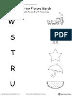 MTS Phonics Letter Picture Match W S T R U