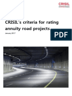 CRISILs Criteria for Rating Annuity Roads