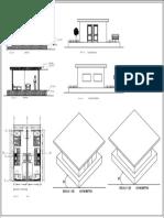Corte de Fachada Frontal y Estructura Metalica