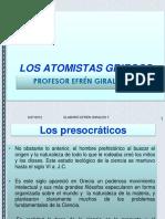 Los Atomistas Griegos