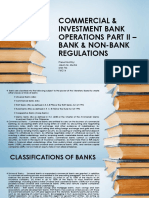 Commercial and Investment Bank Operations