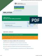 Malaysia Smartraveller.gov 091017
